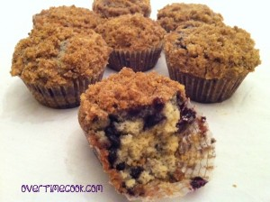 World's Best Blueberry Crumb Muffins