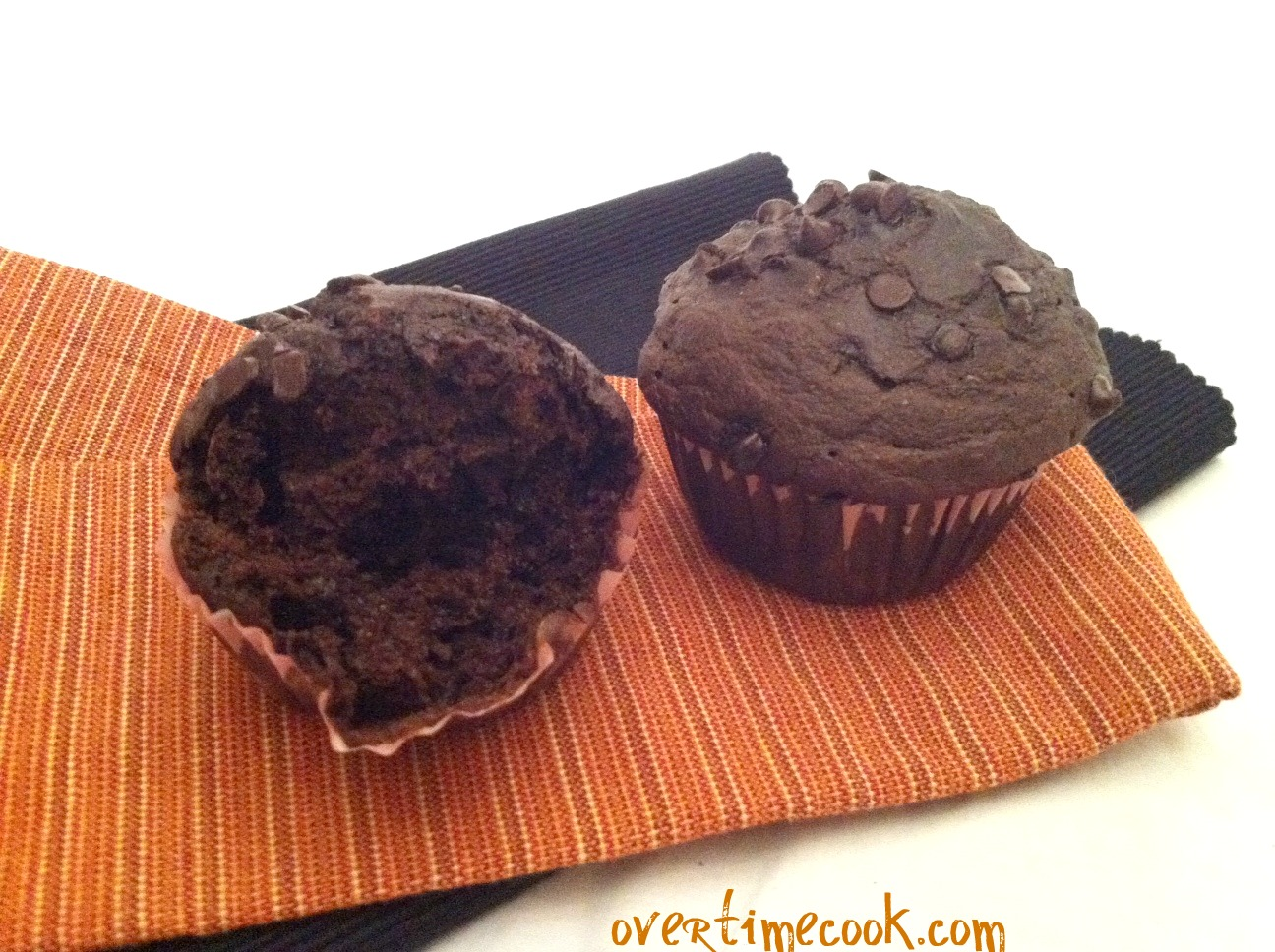 Honestly Healthy Double Chocolate Chip Muffins - Overtime Cook