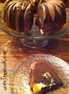 Cream Cheese Swirled Chocolate Fudge Bundt Cake