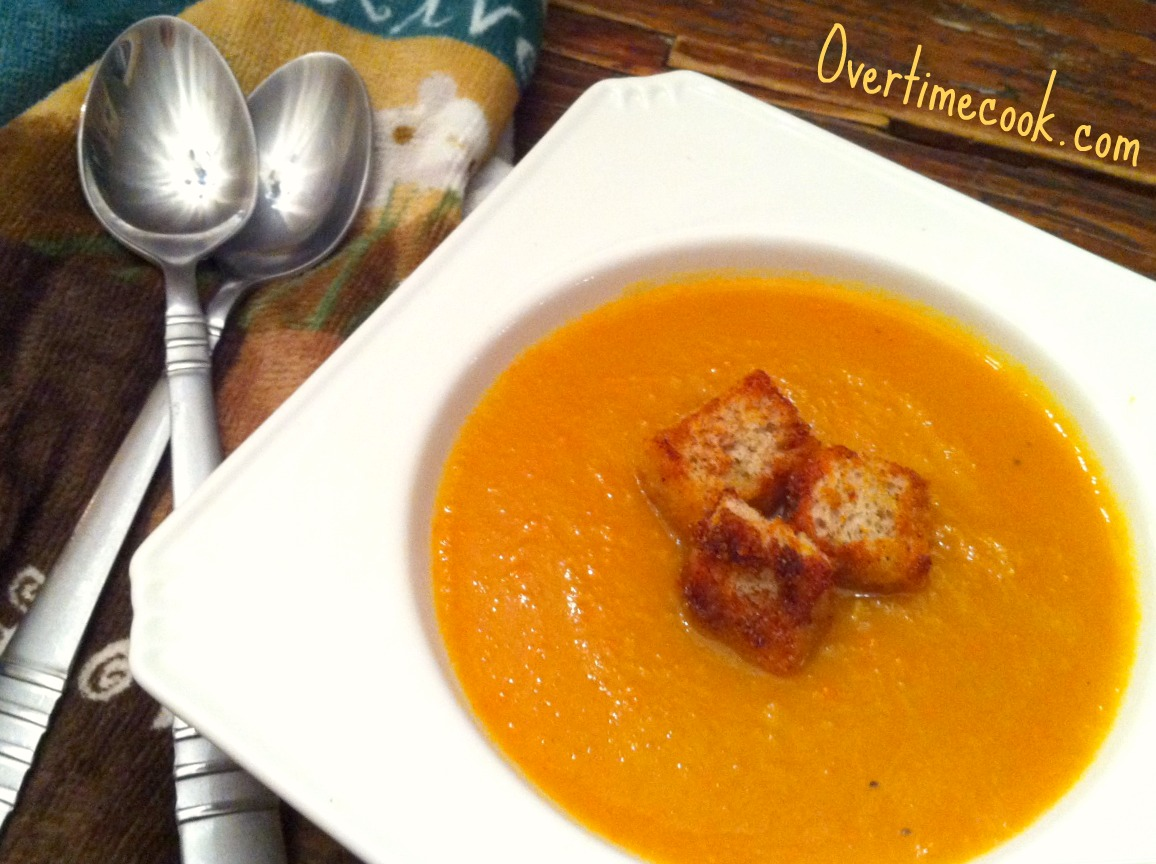 Creamy Orange Sunshine Soup Recipe — Dishmaps