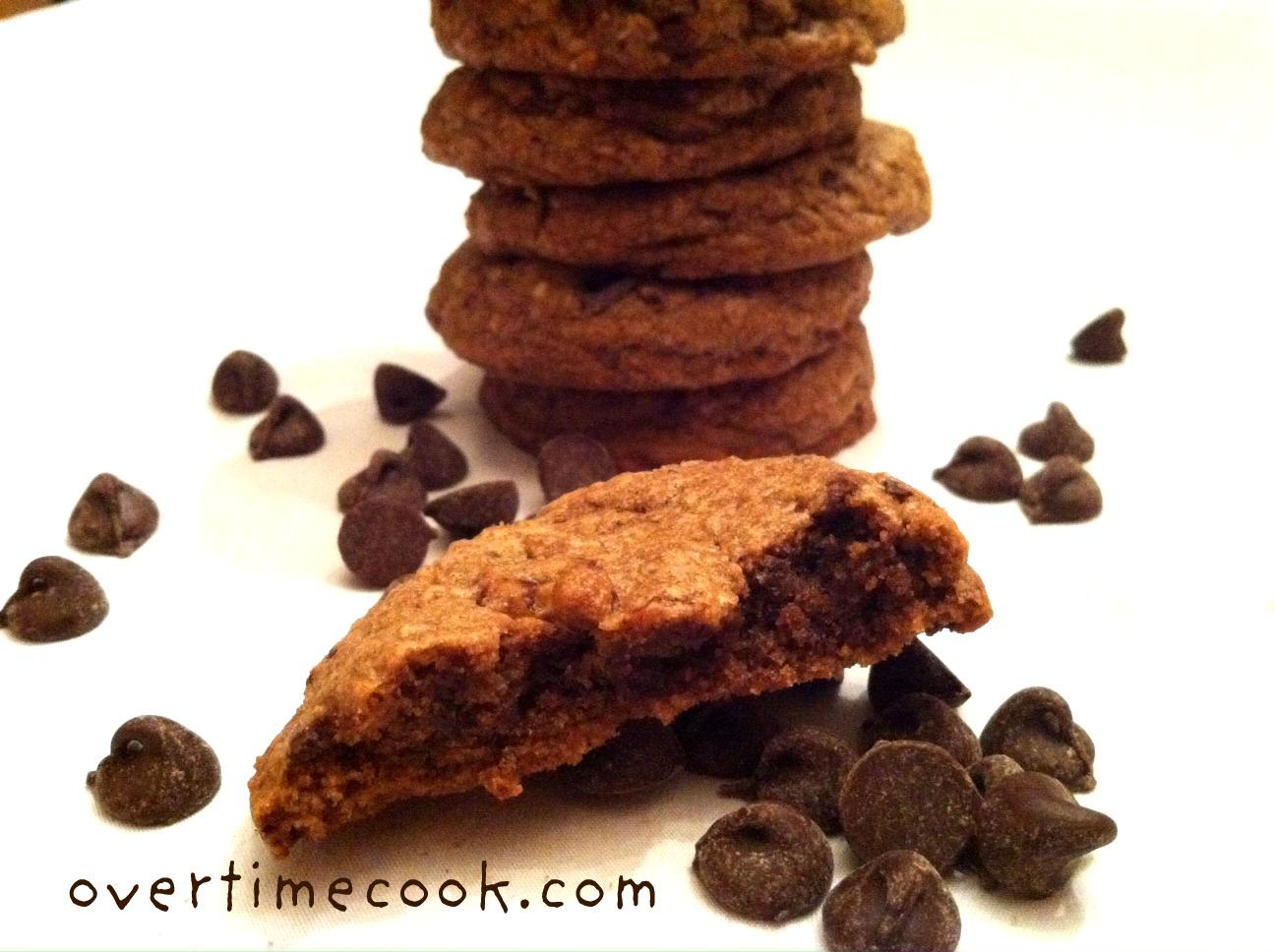 Triple Chocolate Chunk Cookies - Overtime Cook