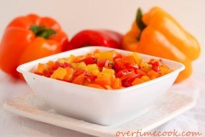 Marinated Tri-Color Pepper Salad