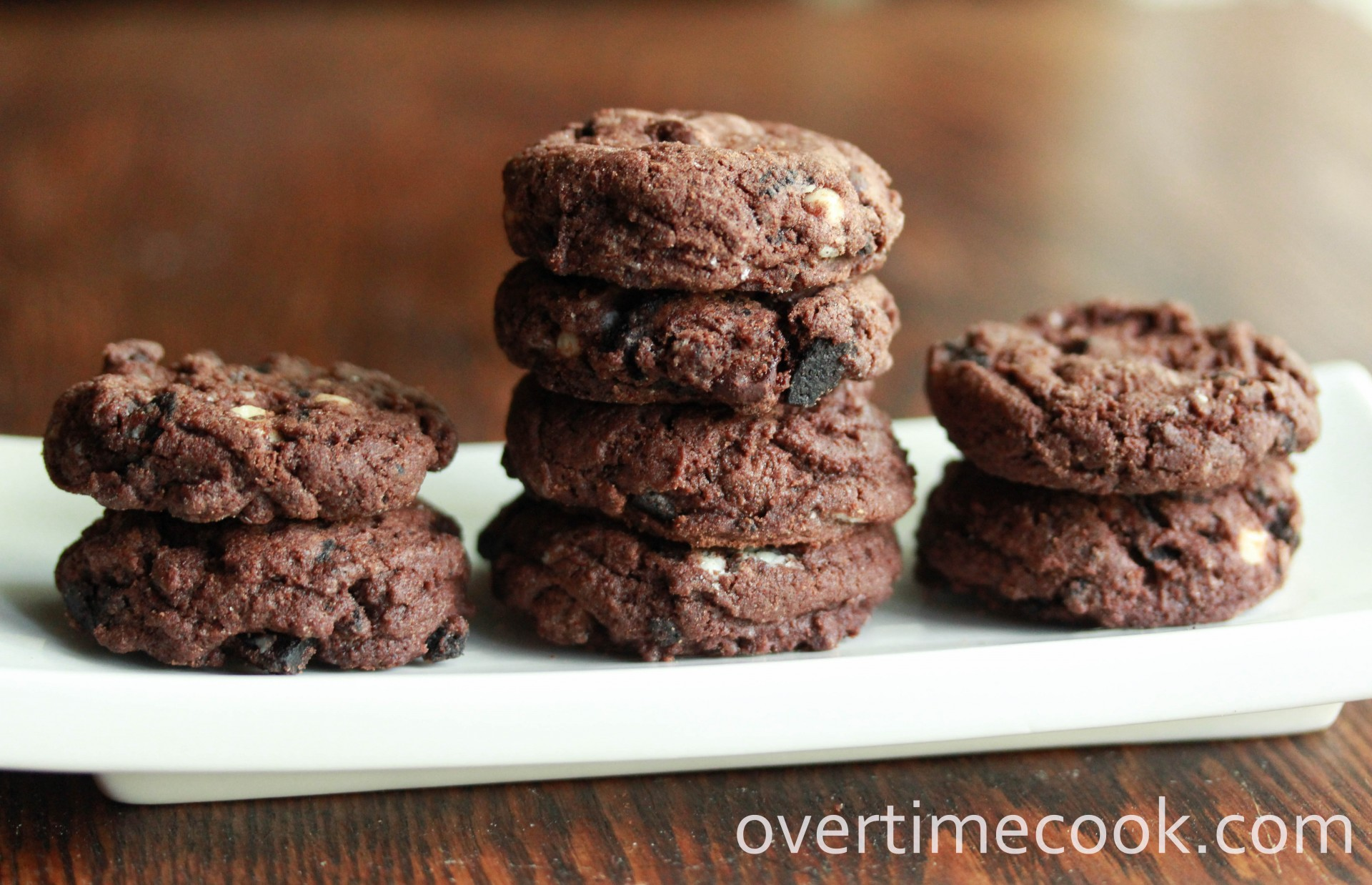 Triple Chocolate Oreo Chunk Cookies - Overtime Cook