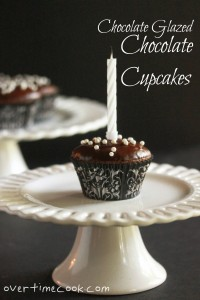 Chocolate Cupcakes and a First Blogiversary Giveaway