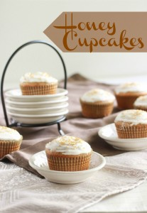 Honey Cupcakes with Cream Cheese Frosting