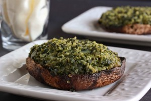 Quinoa and Spinach Stuffed Portobello Mushrooms