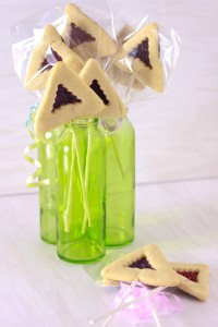 Chocolate Covered Hamantaschen Pops