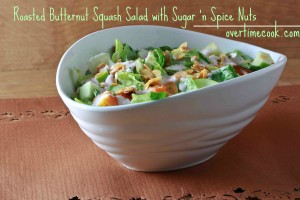 Roasted Butternut Squash Salad and a Review and Giveaway of Passover Made Easy