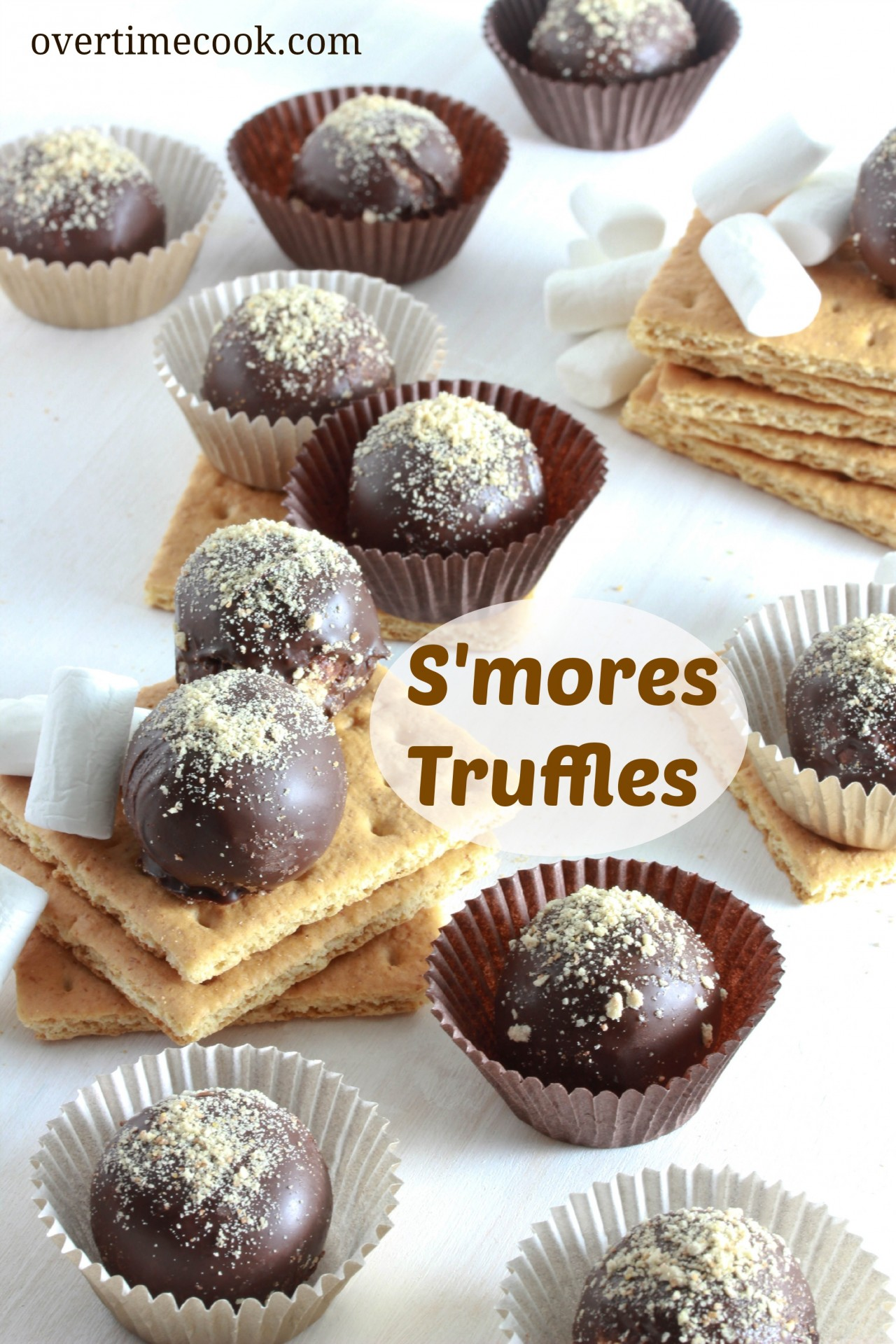 mores Truffles - Overtime Cook