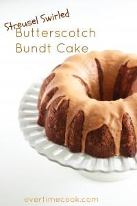 Streusel Swirled Butterscotch Bundt Cake