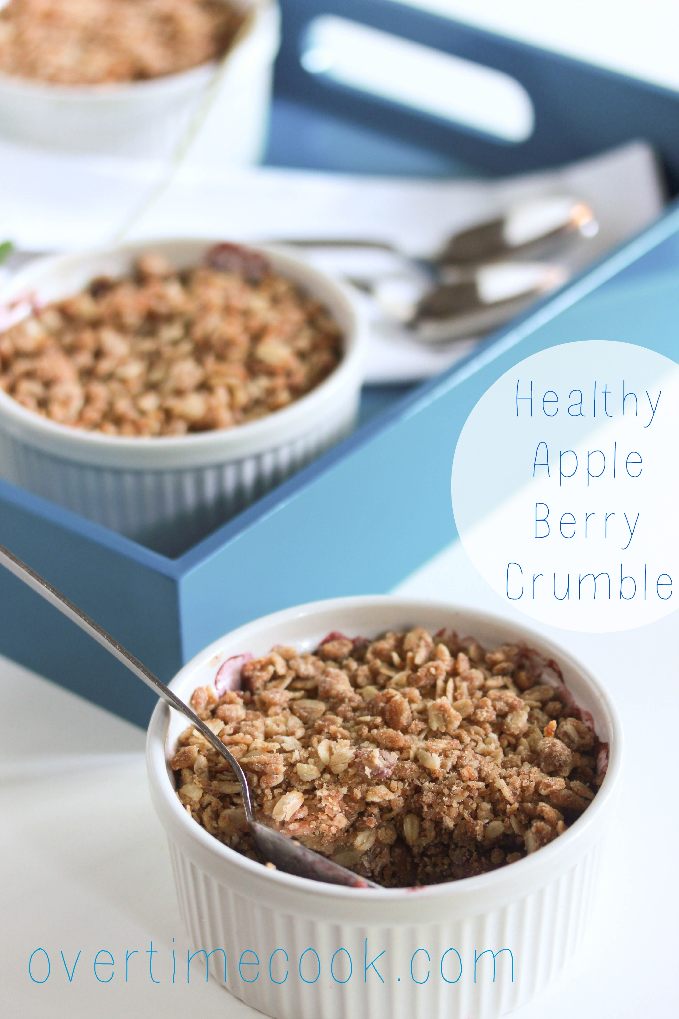 Healthy Apple Berry Crumble - Overtime Cook