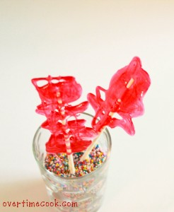 Homemade Free-Form Lollipops and a review of Sprinkle Bakes
