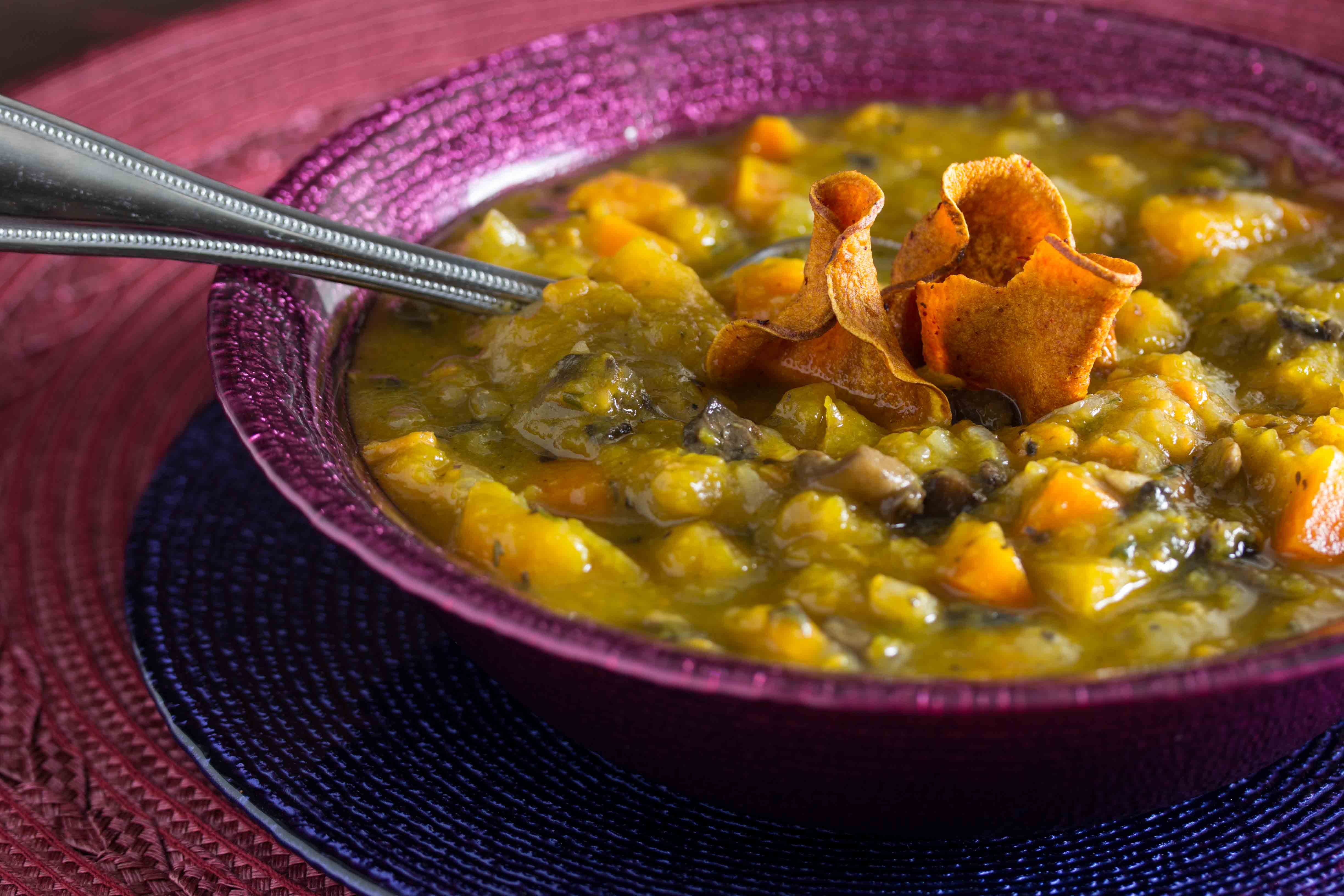 Chunky Vegetable Soup - Overtime Cook