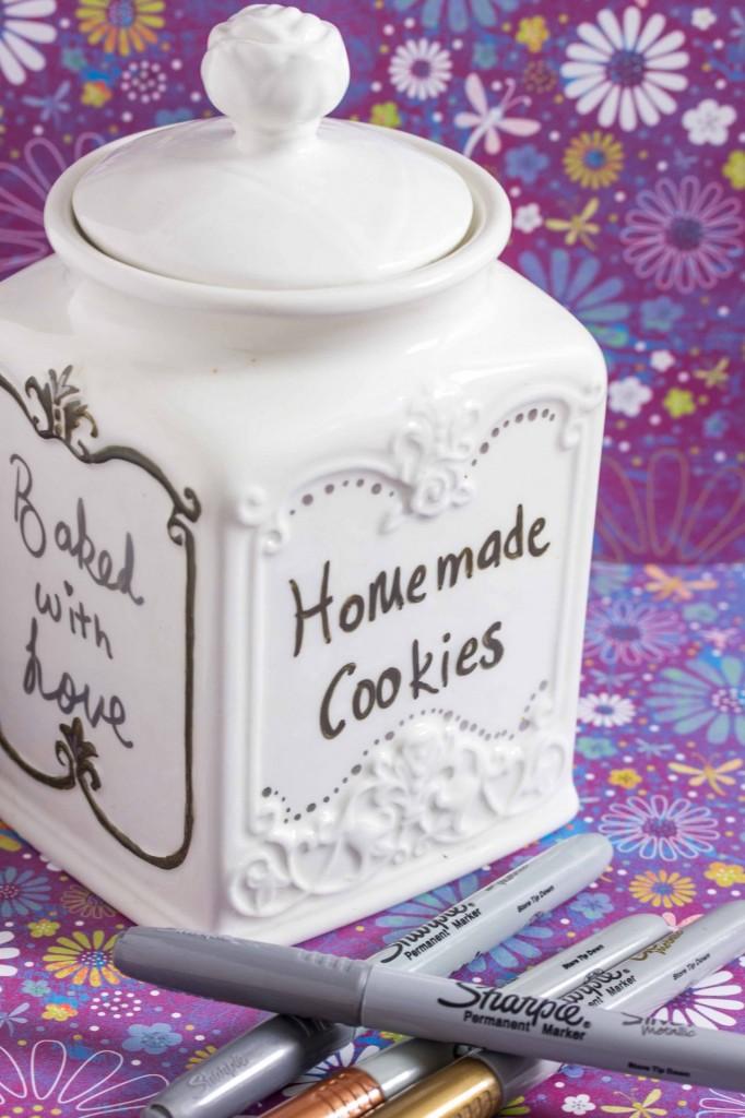 DIY cookie jars with Sharpies 3