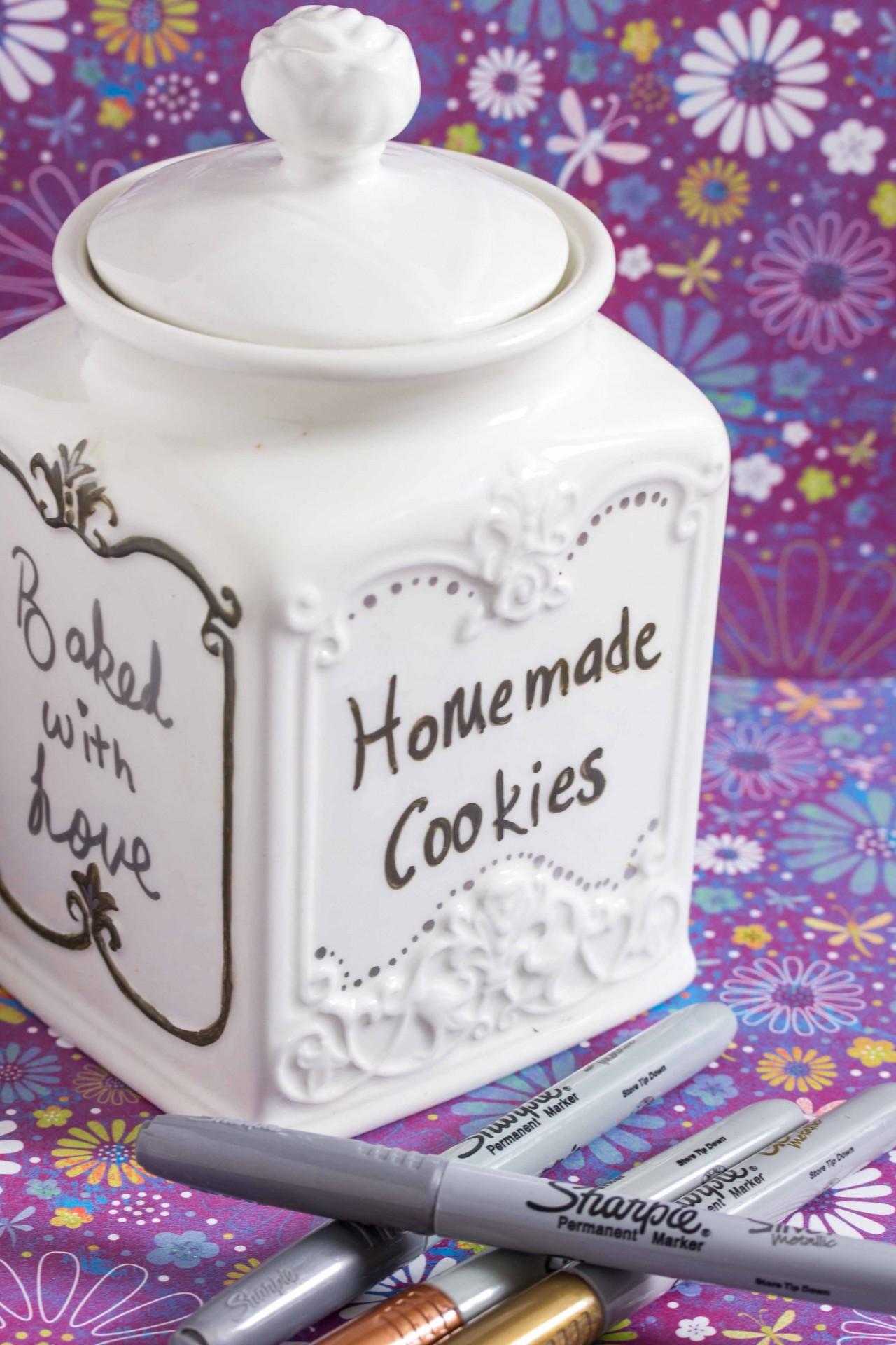 Diy Cookie Jars With Sharpies Overtime Cook