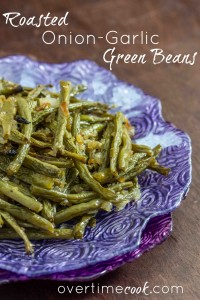 Roasted Green Beans with Onion Garlic
