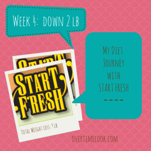 My Weight Loss Journey with Start Fresh: Week 4 and a Giveaway!