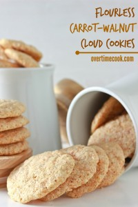 Flourless Carrot Walnut Cloud Cookies