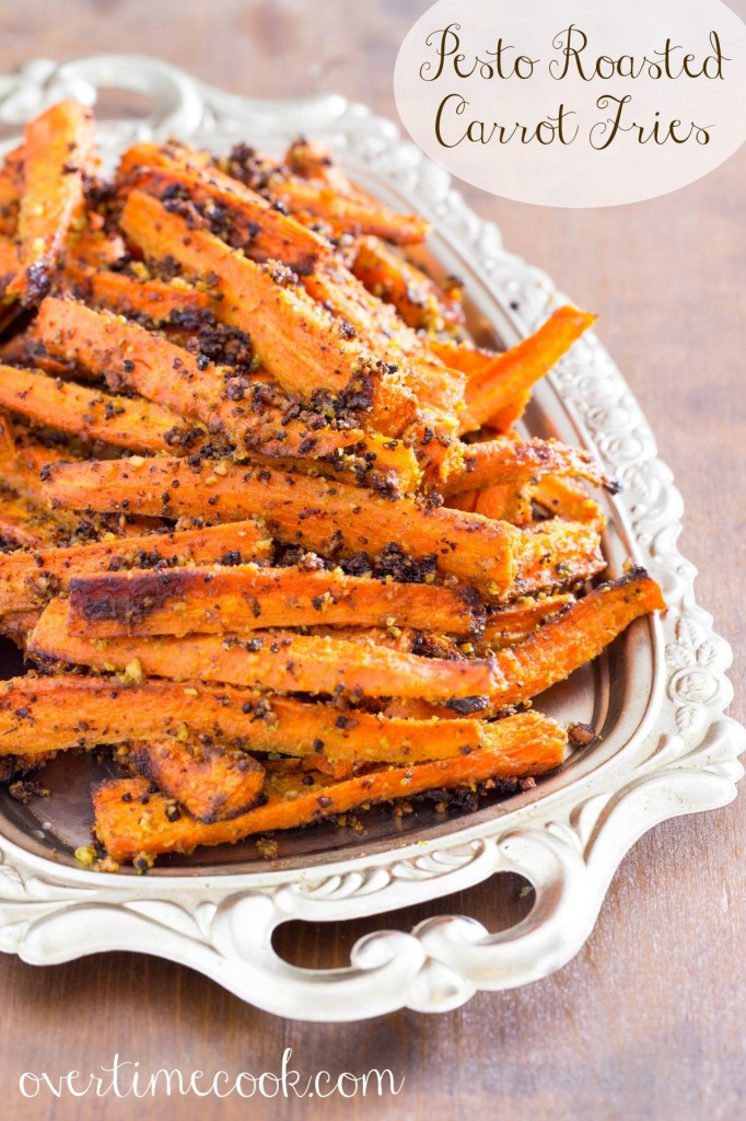 Pesto Roasted Carrot Fries on overtimecook