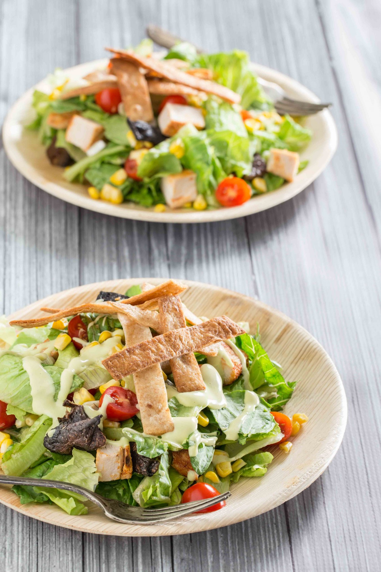 Grilled Chicken And Corn Salad With Creamy Avocado