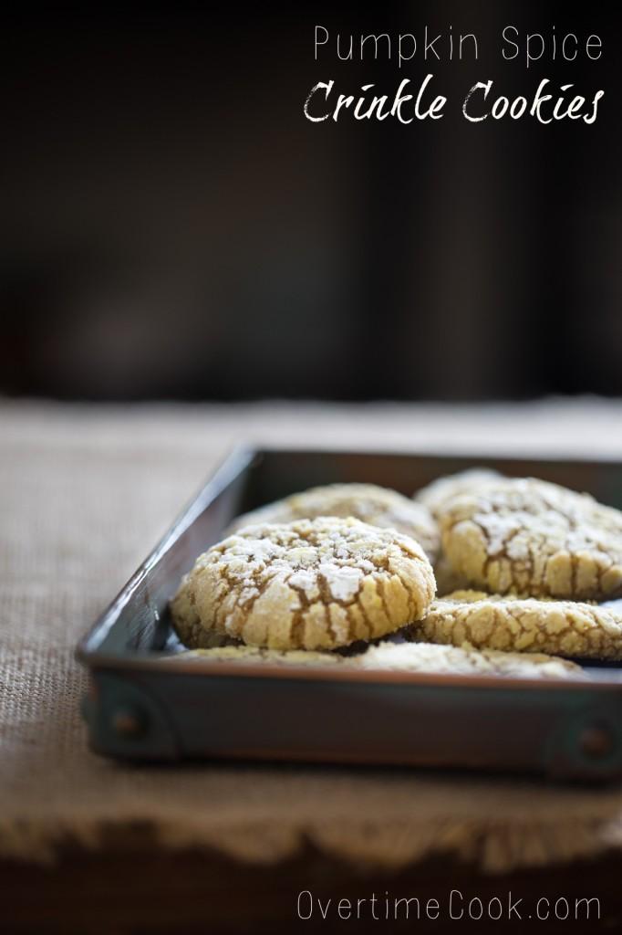 pumpkin spice crinkle cookies