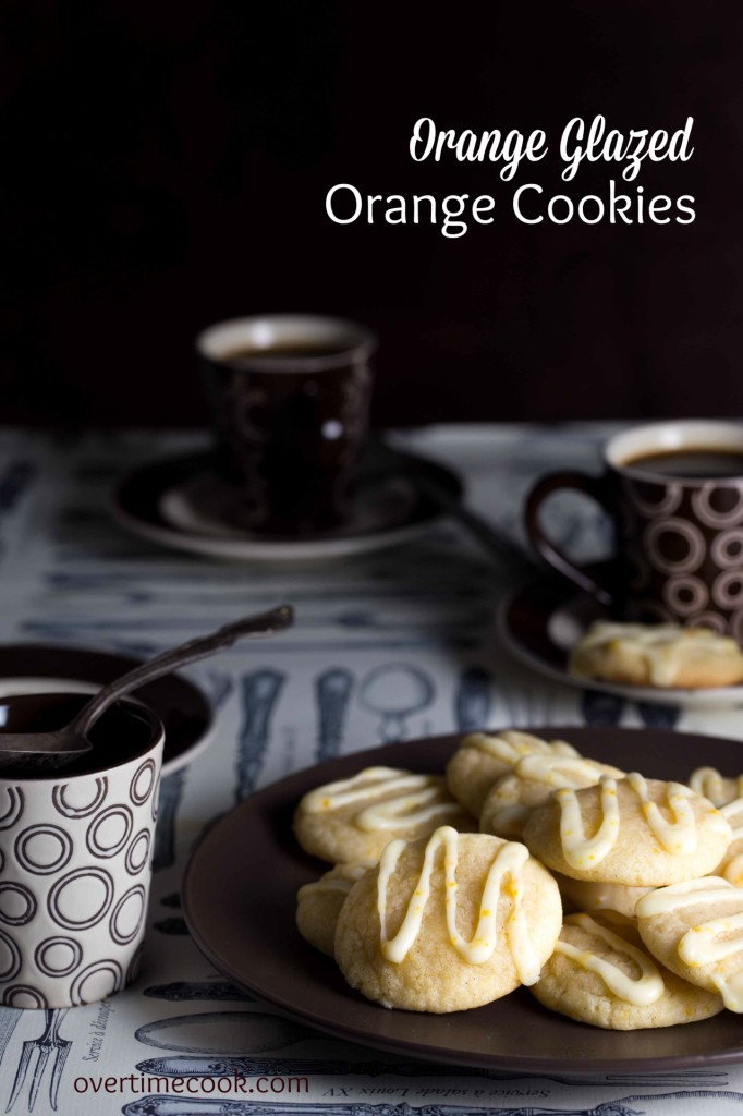 orange glazed orange cookies on overtimecook.com