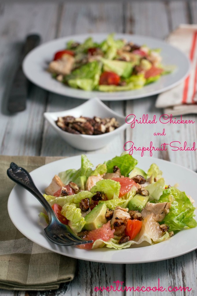 grilled chicken grapefruit salad | overtimecook.com