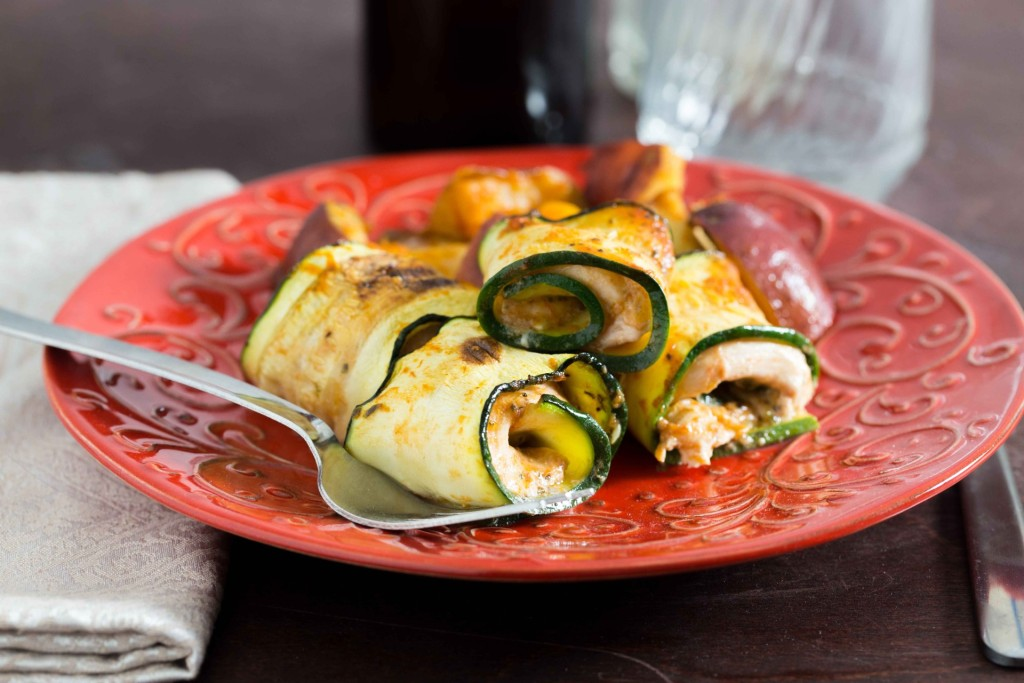 Zucchini Chicken Pinwheels LR