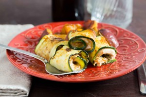 Zucchini Chicken Pinwheels for a #PassoverPotluck