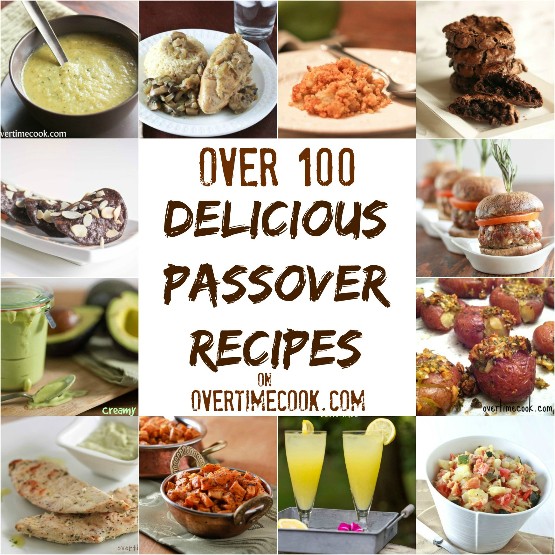 over 100 delicious passover recipes - overtime cook