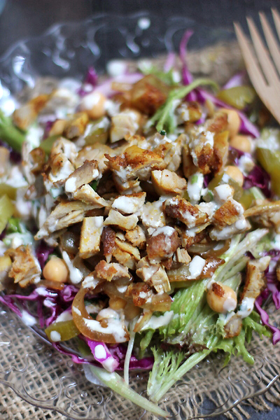 grilled chicken schwarma salad2