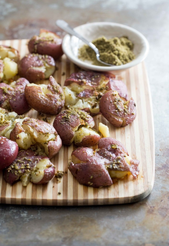 Za'atar Smashed Potatoes
