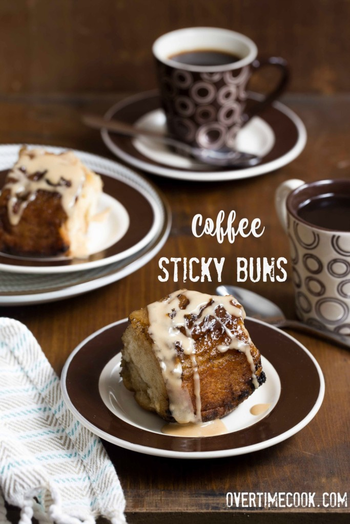 coffee sticky buns on overtime cook
