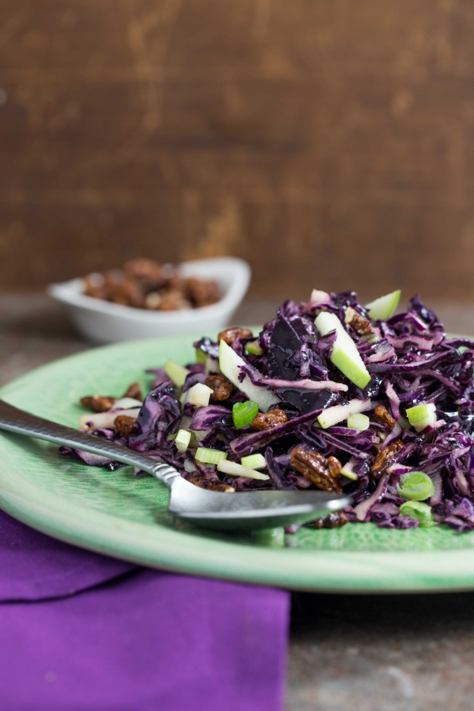 Purple Cabbage Salad with Maple Vinaigrette - Overtime Cook