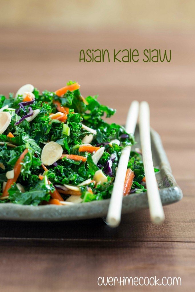 asian kale slaw on Overtime Cook