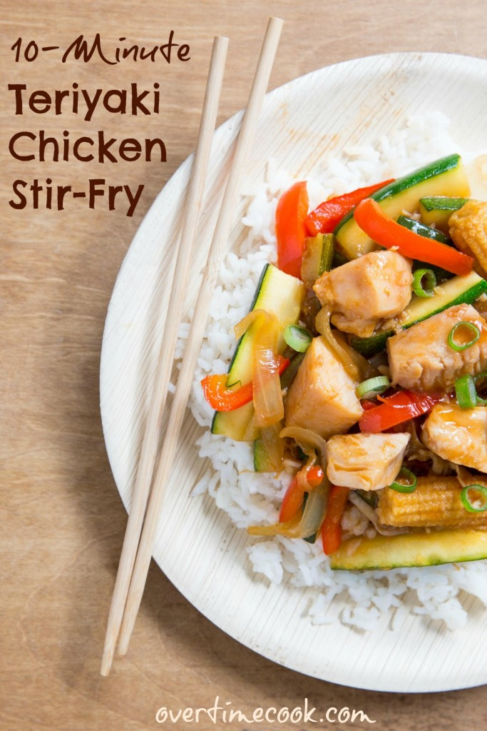 10-minute teriyaki chicken stir fry on overtime cook