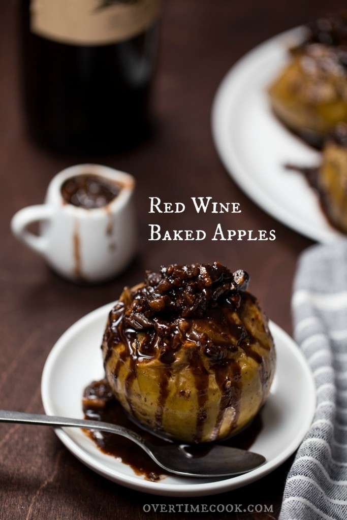 Red Wine Baked Apples on Overtime Cook