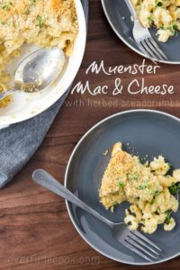 Muenster Mac and Cheese with Herbed Breadcrumbs