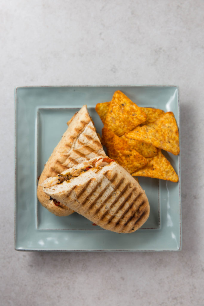 fajita chicken panini