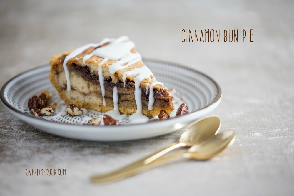 cinnamon bun pie on overtime cook