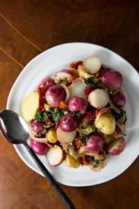 Sun-Dried Tomato and Spinach Potatoes