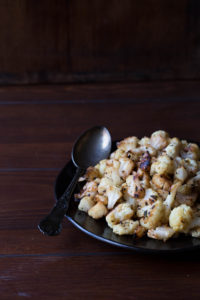 Lemon Garlic Roasted Cauliflower