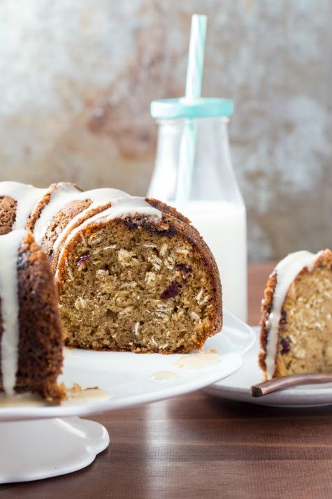 Oatmeal Raisin Bundt Cake