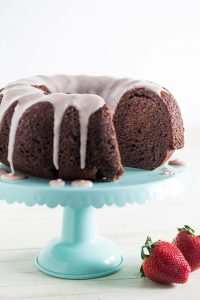Strawberry and Chocolate Greek Yogurt Bundt Cake