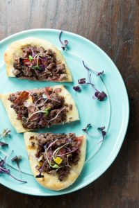 Honey Mustard Beef Flatbreads