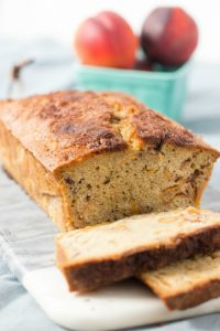 Roasted Peach Pound Cake