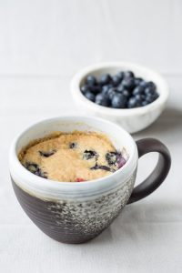 Blueberry Corn Muffin Mug Cake