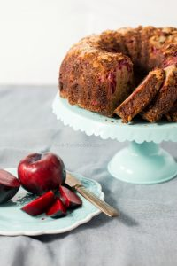 Almond Crusted Plum Bundt Cake