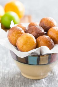 Citrus Glazed Donut Holes