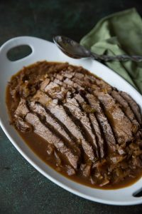 Silan Braised Roast with Apples and Leeks